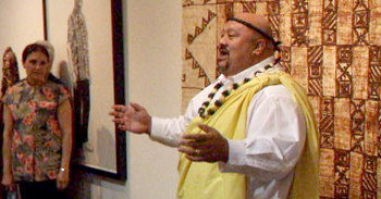Liko Puha blessing the Alfred Shaheen exhibit
